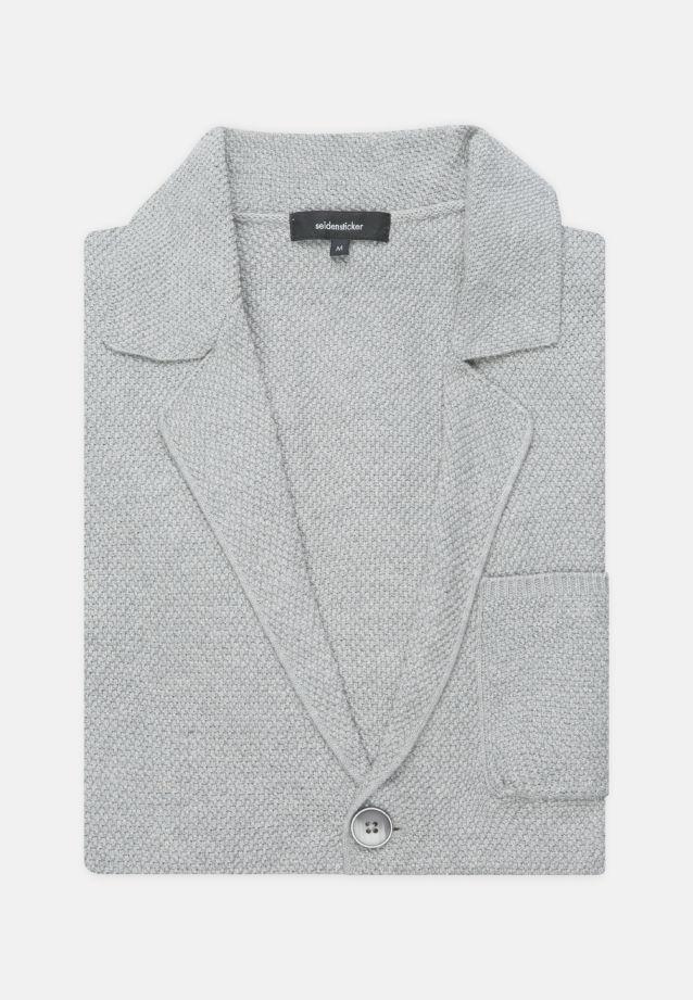 Collar Jacket made of 100% Cotton in grey    Seidensticker Onlineshop