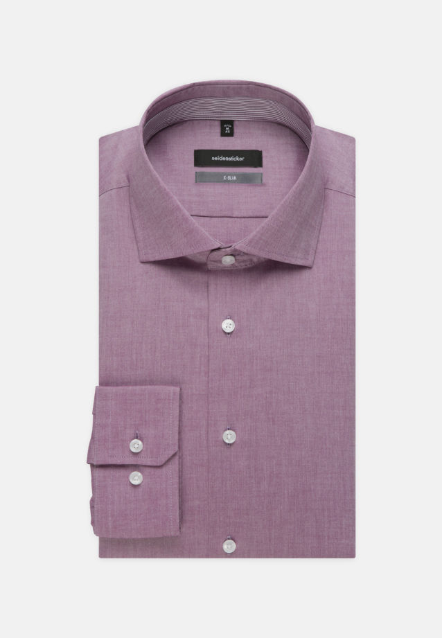 Non-iron Chambray Business Shirt in X-Slim with Kent-Collar in lila |  Seidensticker Onlineshop