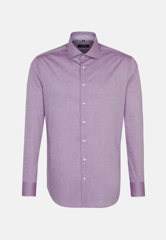Non-iron Chambray Business Shirt in X-Slim with Kent-Collar in Purple |  Seidensticker Onlineshop