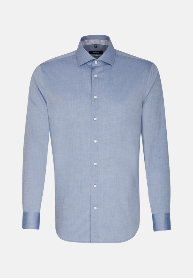 Non-iron Chambray Business Shirt in X-Slim with Kent-Collar in dunkelblau |  Seidensticker Onlineshop
