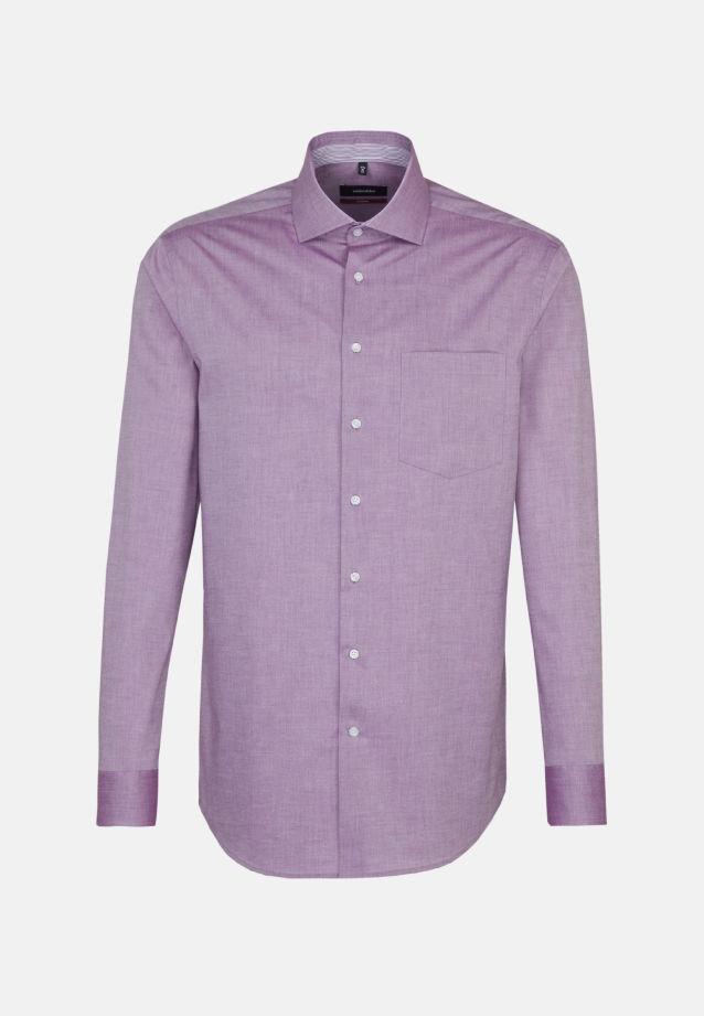 Bügelfreies Chambray Business Hemd in Modern mit Kentkragen in lila |  Seidensticker Onlineshop