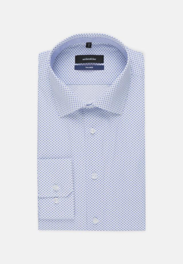 Bügelleichtes Popeline Business Hemd in Tailored mit Kentkragen und extra langem Arm in Hellblau |  Seidensticker Onlineshop