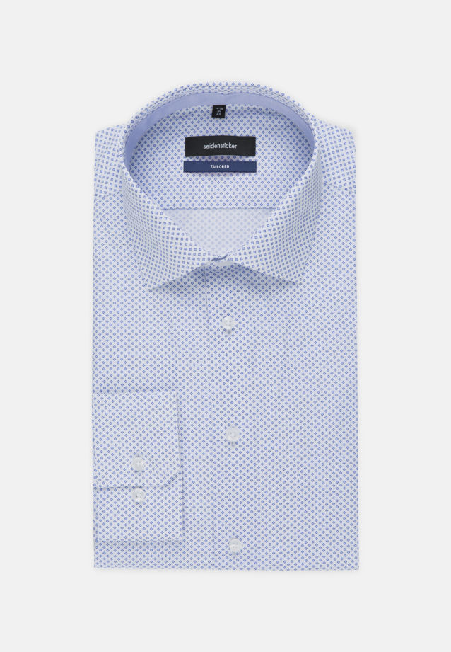 Easy-iron Poplin Business Shirt in Tailored with Kent-Collar in Light blue |  Seidensticker Onlineshop