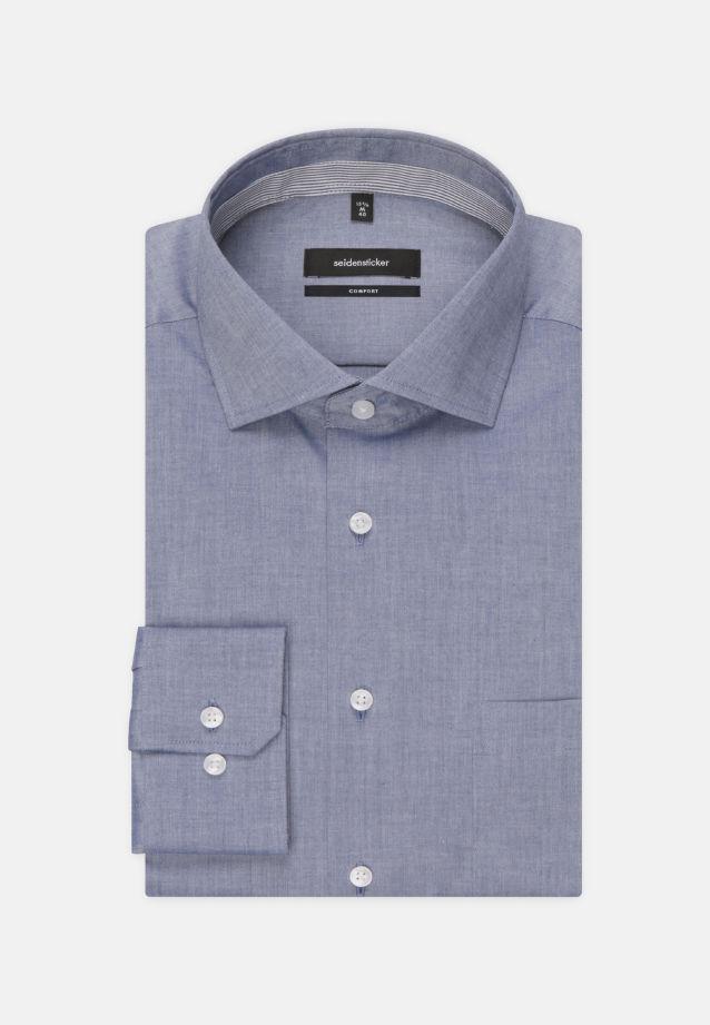 Bügelfreies Chambray Business Hemd in Comfort mit Kentkragen in dunkelblau    Seidensticker Onlineshop
