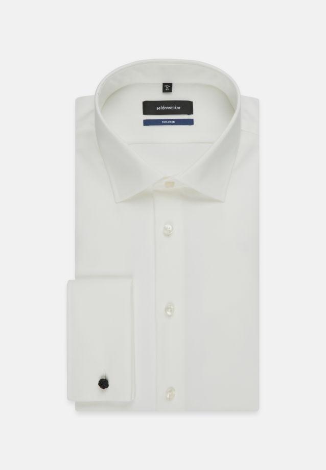 Bügelfreies Popeline Business Hemd in Tailored mit Kentkragen in ecru |  Seidensticker Onlineshop