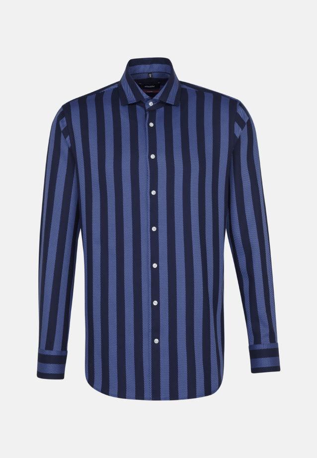 Bügelleichtes Twill Business Hemd in Modern mit Kentkragen in Dunkelblau |  Seidensticker Onlineshop