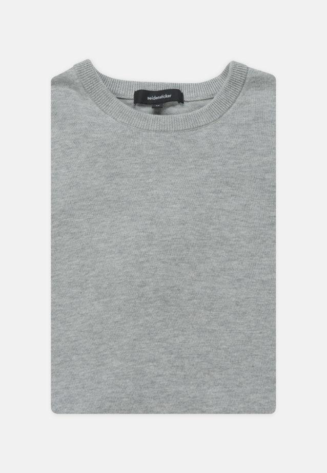 Crew Neck Pullover made of 100% Cotton in grey    Seidensticker Onlineshop