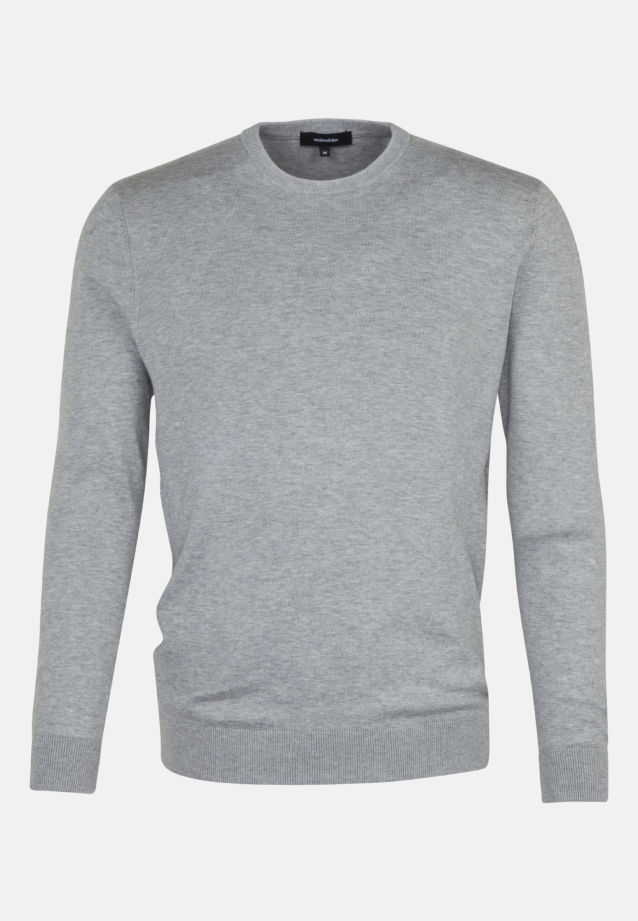 Crew Neck Pullover made of 100% Cotton in Grey |  Seidensticker Onlineshop