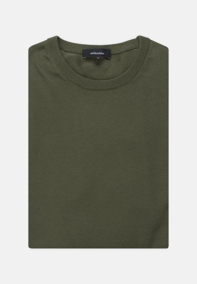 Crew Neck Pullover made of 100% Cotton in olive    Seidensticker Onlineshop