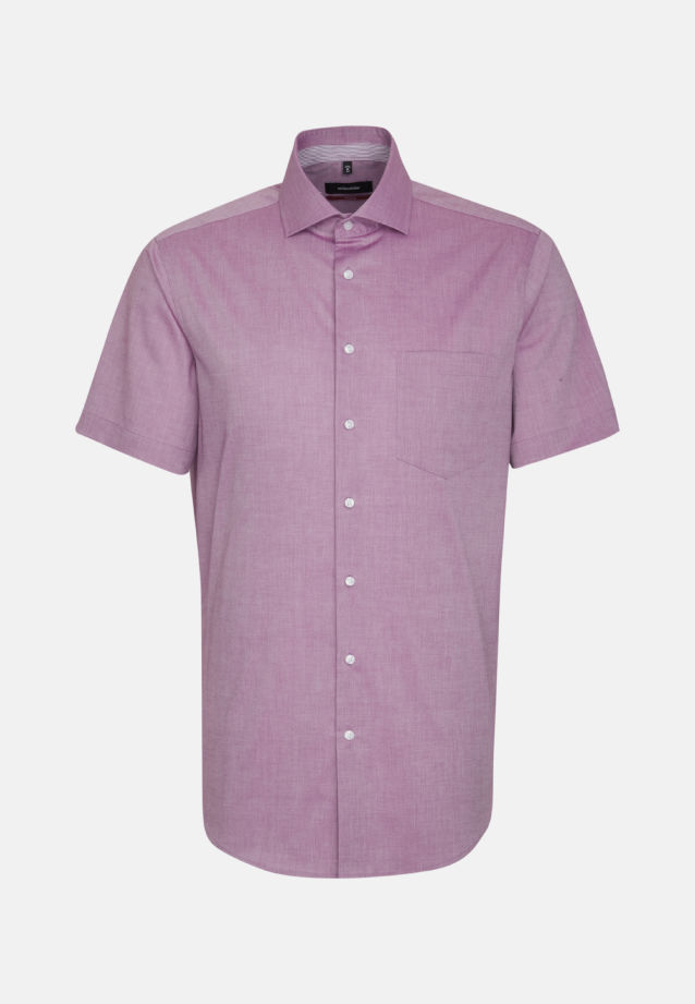Non-iron Chambray Short arm Business Shirt in Modern with Kent-Collar in lila |  Seidensticker Onlineshop