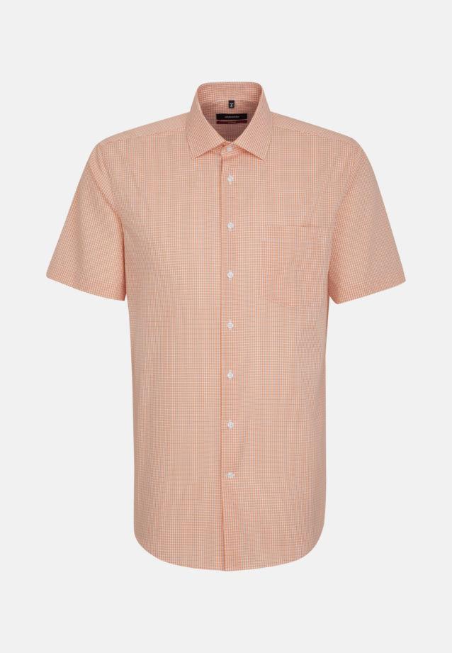 Non-iron Poplin Short arm Business Shirt in Regular with Kent-Collar in Orange |  Seidensticker Onlineshop