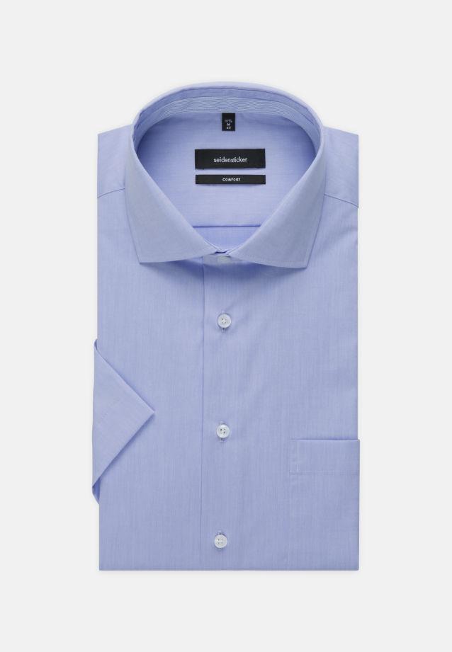 Bügelfreies Chambray Kurzarm Business Hemd in Comfort mit Kentkragen in Hellblau |  Seidensticker Onlineshop