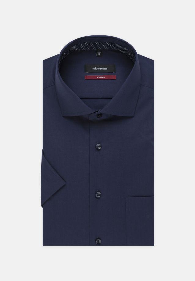 Non-iron Poplin Short arm Business Shirt in Regular with Kent-Collar in Dark blue |  Seidensticker Onlineshop