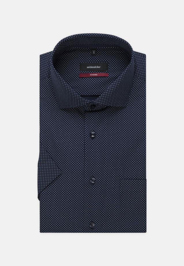Bügelleichtes Popeline Kurzarm Business Hemd in Modern mit Kentkragen in dunkelblau |  Seidensticker Onlineshop