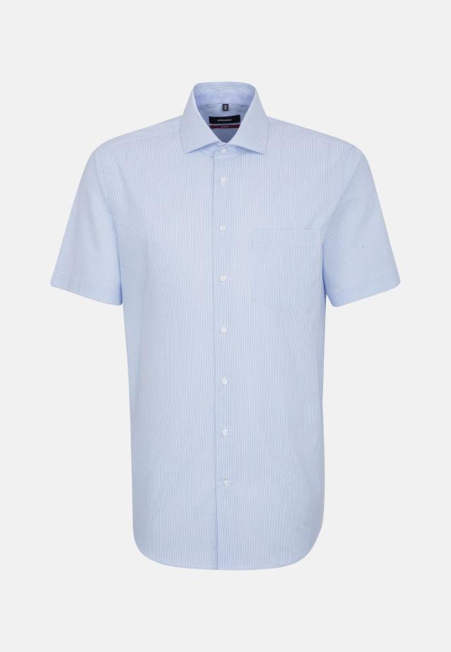 Bügelfreies Popeline Kurzarm Business Hemd in Modern mit Kentkragen in hellblau |  Seidensticker Onlineshop