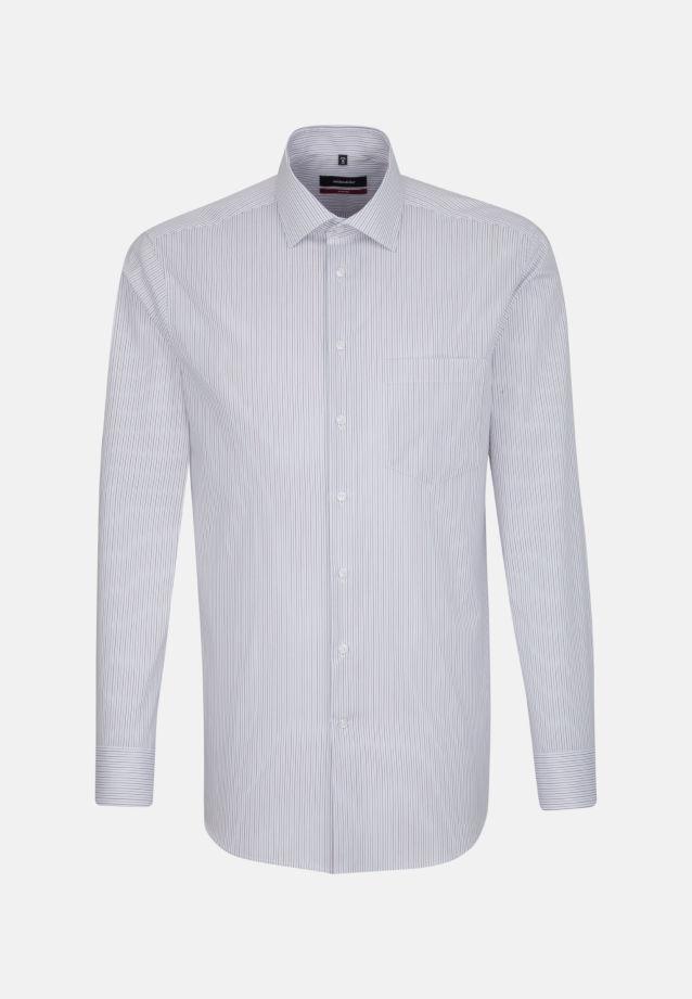 Bügelfreies Popeline Business Hemd in Modern mit Kentkragen in Lila |  Seidensticker Onlineshop