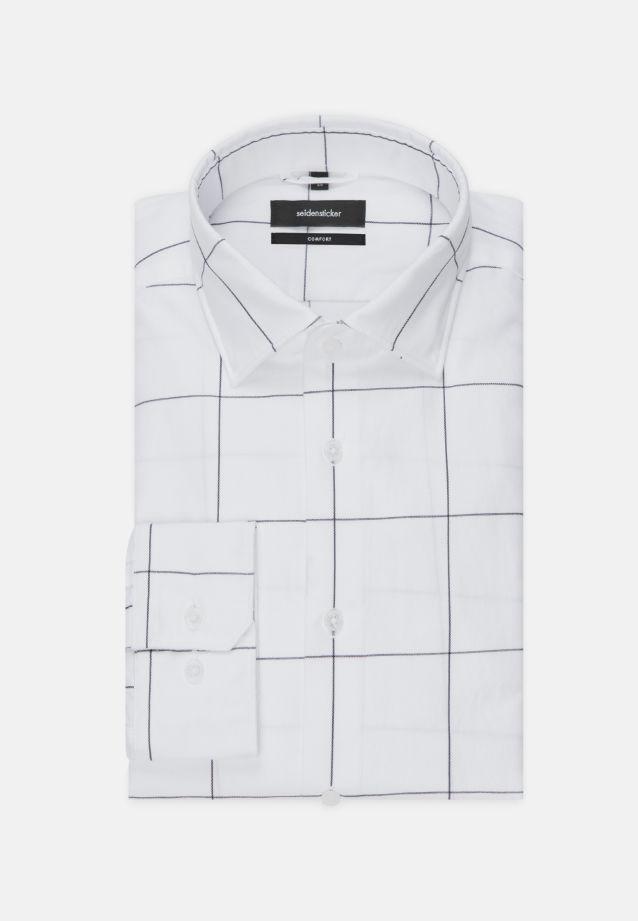 Bügelleichtes Twill Business Hemd in Comfort mit Kentkragen in blau    Seidensticker Onlineshop