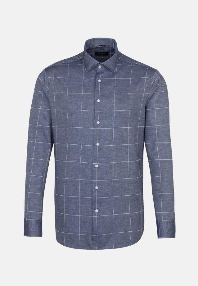 Easy-iron Twill Business Shirt in Comfort with Kent-Collar in dunkelblau |  Seidensticker Onlineshop