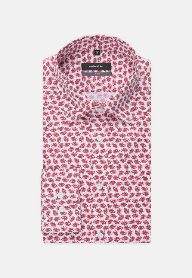Bügelleichtes Popeline Business Hemd in X-Slim mit Covered-Button-Down-Kragen in Rot |  Seidensticker Onlineshop