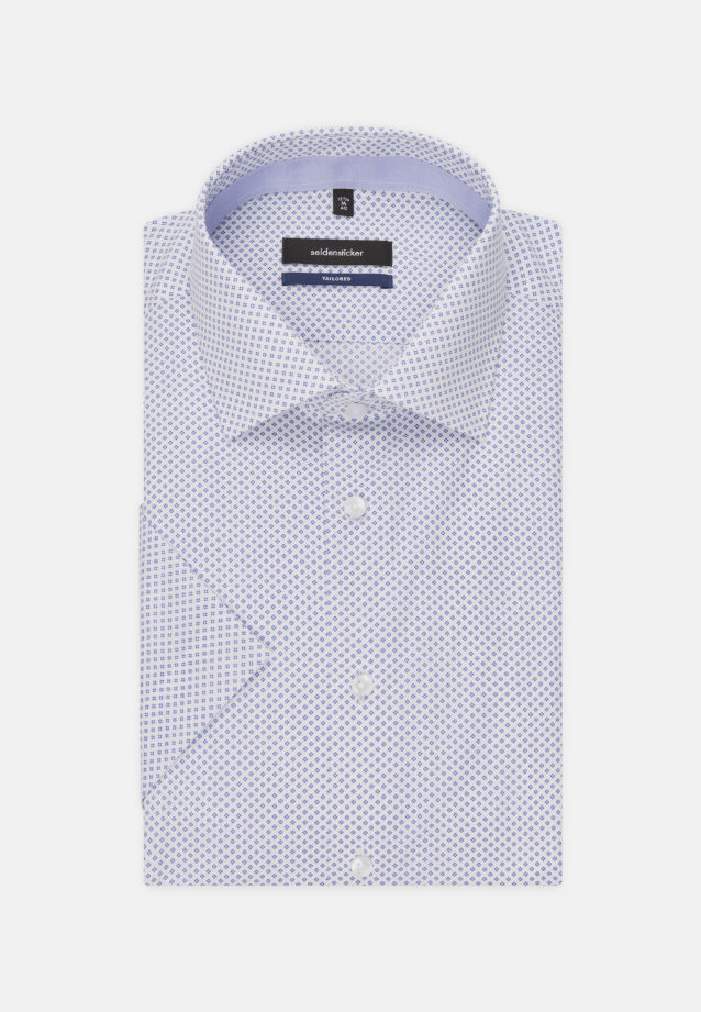 Easy-iron Poplin Short sleeve Business Shirt in Shaped with Kent-Collar in Light blue |  Seidensticker Onlineshop