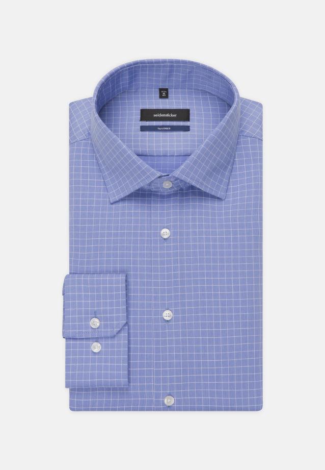 Bügelleichtes Struktur Business Hemd in Tailored mit Kentkragen in Hellblau |  Seidensticker Onlineshop
