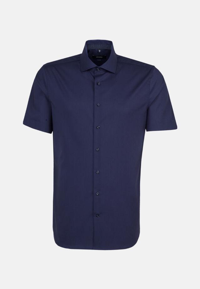 Bügelfreies Popeline Kurzarm Business Hemd in Tailored mit Kentkragen in dunkelblau |  Seidensticker Onlineshop