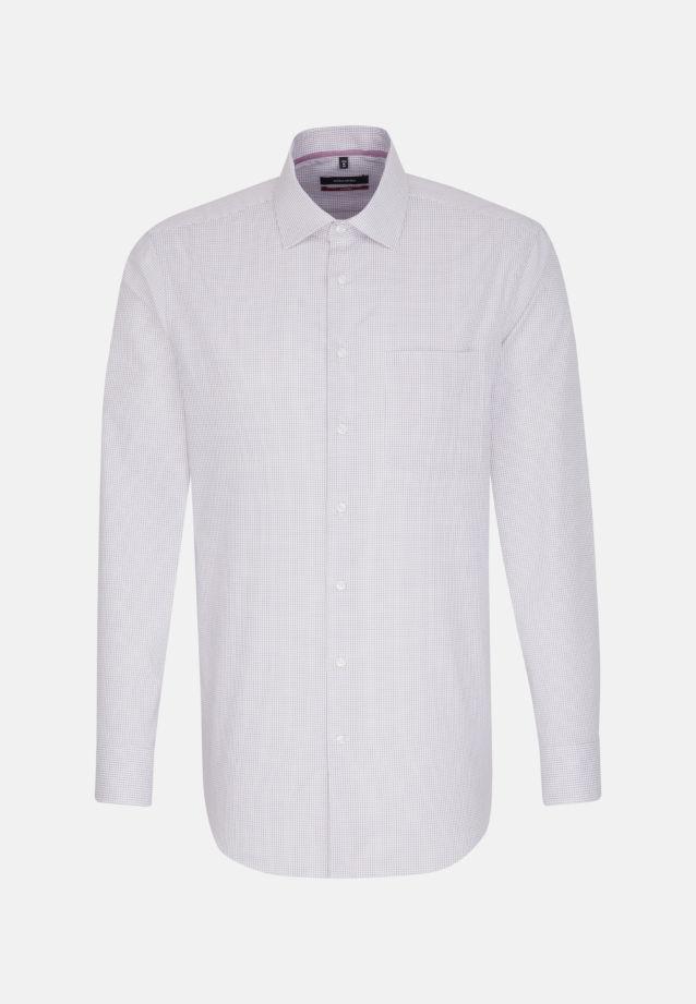 Bügelfreies Popeline Business Hemd in Modern mit Kentkragen in Lila    Seidensticker Onlineshop
