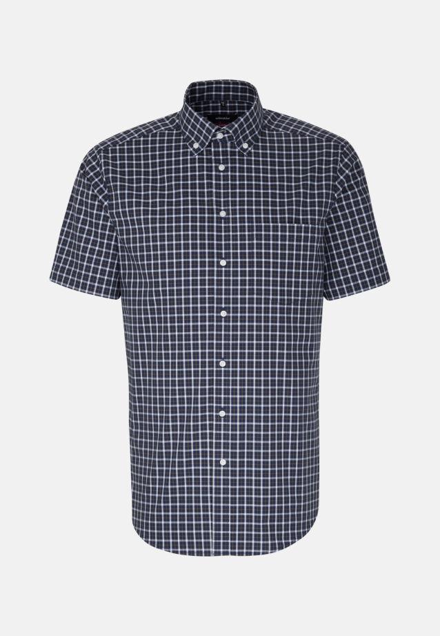 Non-iron Poplin Short arm Business Shirt in Regular with Button-Down-Collar in Green |  Seidensticker Onlineshop