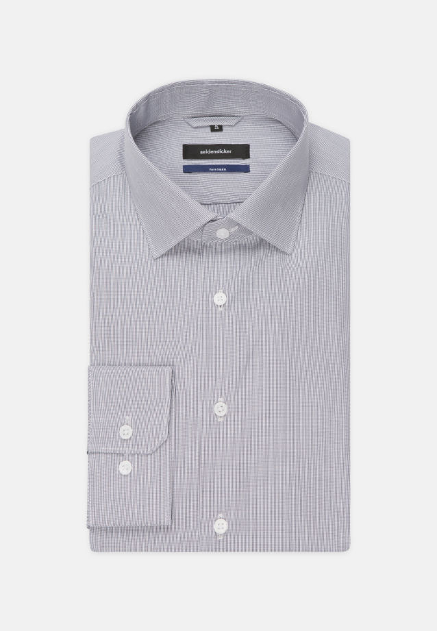 Poplin Business Shirt in Tailored with Kent-Collar in Dark blue |  Seidensticker Onlineshop