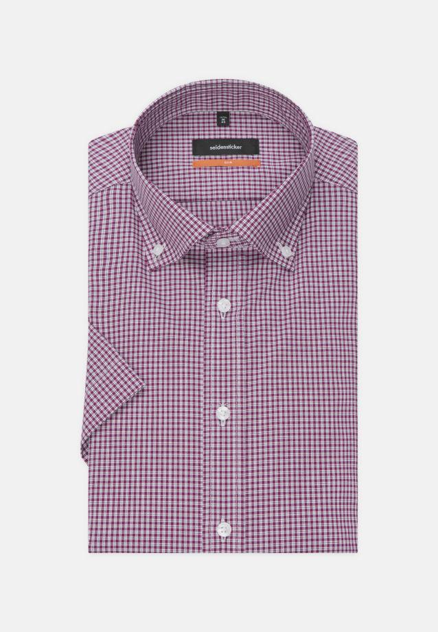 Bügelfreies Popeline Kurzarm Business Hemd in Slim mit Button-Down-Kragen in Lila    Seidensticker Onlineshop