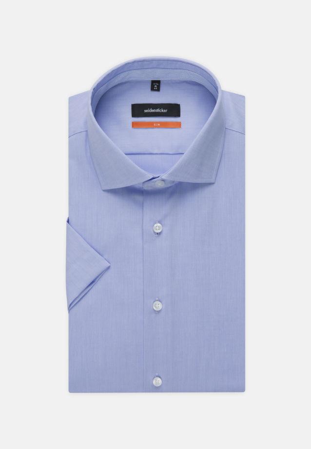 Bügelfreies Chambray Kurzarm Business Hemd in Slim mit Kentkragen in hellblau |  Seidensticker Onlineshop