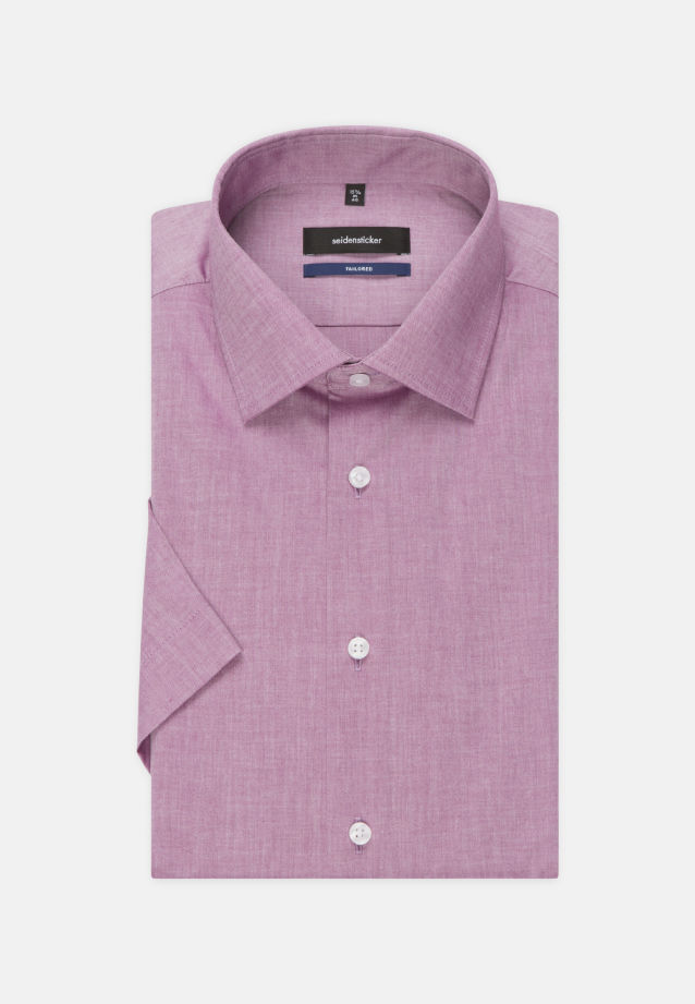 Non-iron Chambray Short arm Business Shirt in Tailored with Kent-Collar in lila |  Seidensticker Onlineshop
