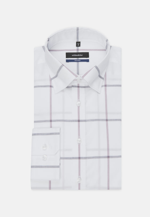 Non-iron Poplin Business Shirt in Tailored with Covered-Button-Down-Collar in Purpla |  Seidensticker Onlineshop