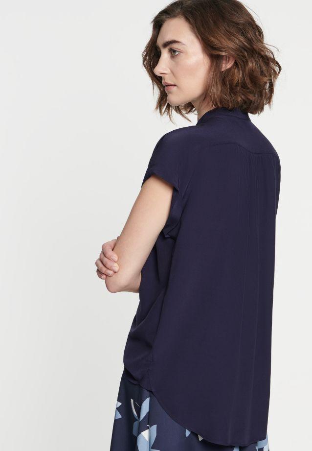 Sleeveless Crepe Slip Over Blouse made of 100% Viscose in Dark blue |  Seidensticker Onlineshop