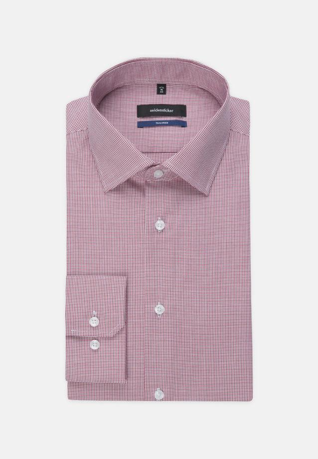 Bügelfreies Popeline Business Hemd in Tailored mit Kentkragen und extra langem Arm in Rot |  Seidensticker Onlineshop