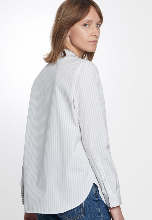 Poplin Stand-Up Blouse made of 100% Cotton in Ecru |  Seidensticker Onlineshop
