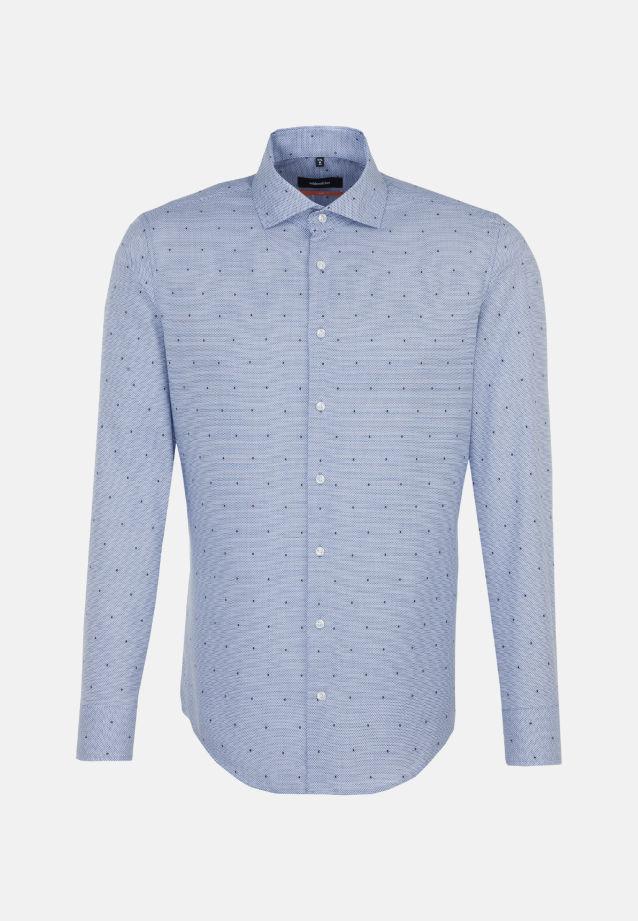 Easy-iron Structure Business Shirt in Slim with Kent-Collar in Medium blue |  Seidensticker Onlineshop