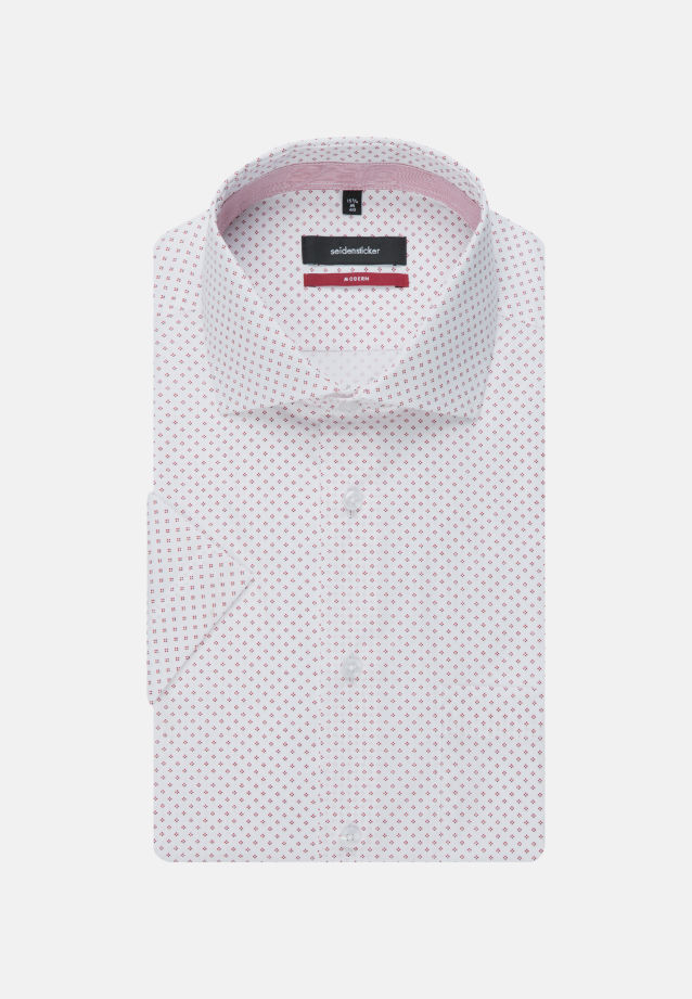 Easy-iron Poplin Short sleeve Business Shirt in Regular with Kent-Collar in Red |  Seidensticker Onlineshop
