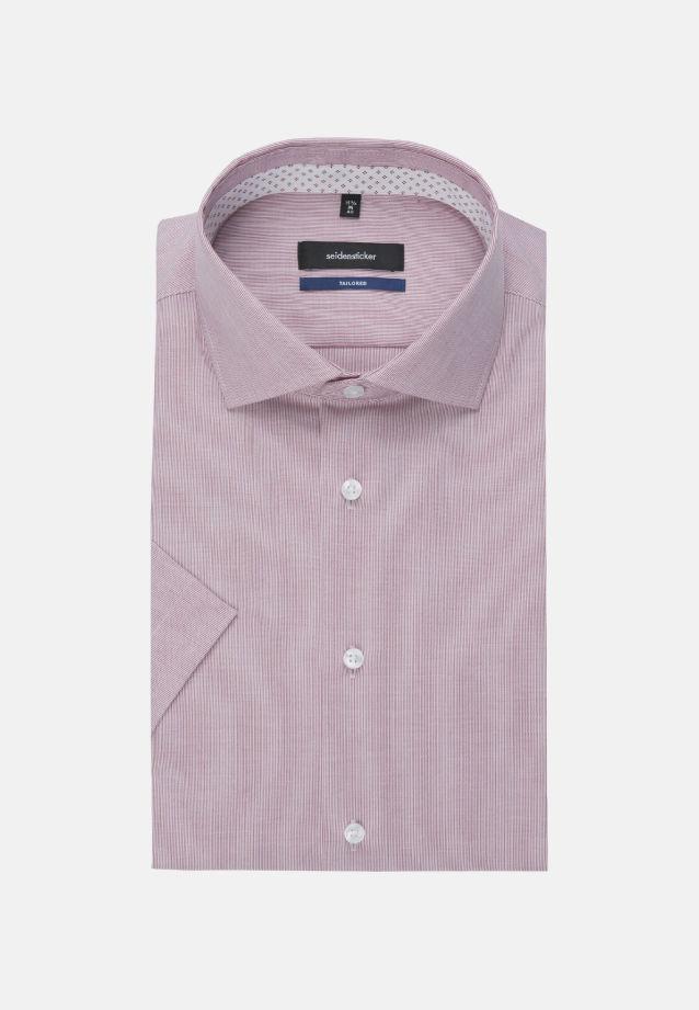 Bügelfreies Popeline Kurzarm Business Hemd in Tailored mit Kentkragen in Rot |  Seidensticker Onlineshop