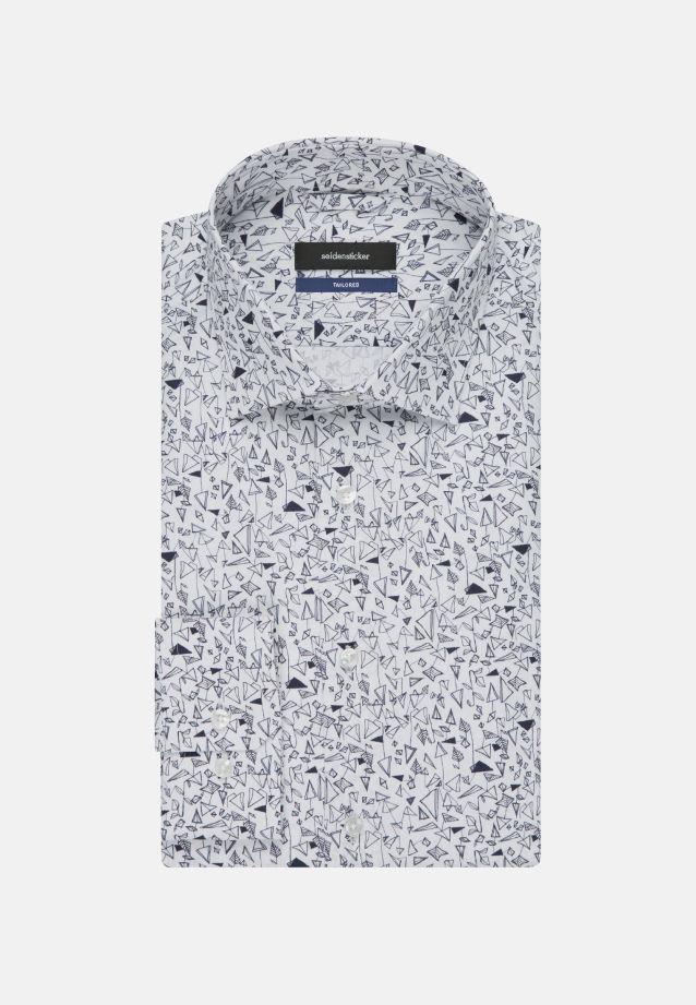 Bügelleichtes Popeline Business Hemd in Tailored mit Kentkragen in Dunkelblau |  Seidensticker Onlineshop