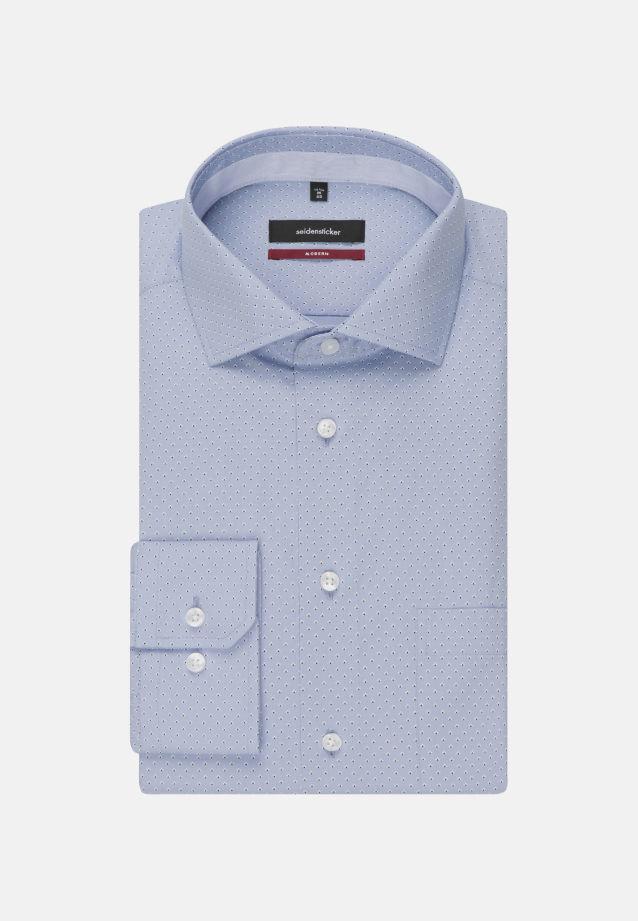 Bügelleichtes Popeline Business Hemd in Modern mit Kentkragen in blau |  Seidensticker Onlineshop