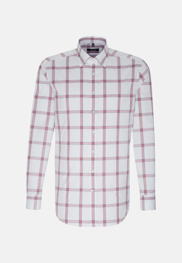 Bügelfreies Popeline Business Hemd in Modern mit Button-Down-Kragen in Rot    Seidensticker Onlineshop