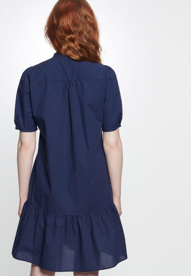 Short arm Voile Dress made of 100% Cotton in marine |  Seidensticker Onlineshop