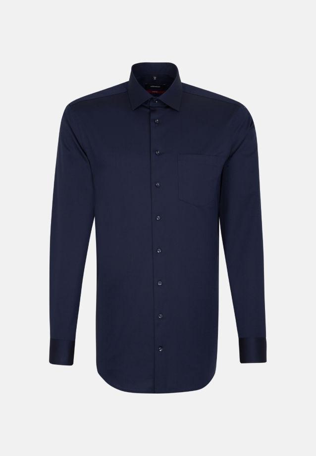 Bügelfreies Twill Business Hemd in Modern mit Kentkragen und extra langem Arm in blau |  Seidensticker Onlineshop