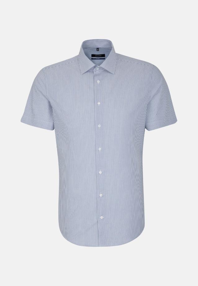 Bügelfreies Popeline Kurzarm Business Hemd in Tailored mit Kentkragen in blau |  Seidensticker Onlineshop
