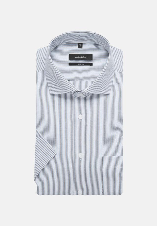 Bügelfreies Popeline Kurzarm Business Hemd in Comfort mit Kentkragen in blau    Seidensticker Onlineshop