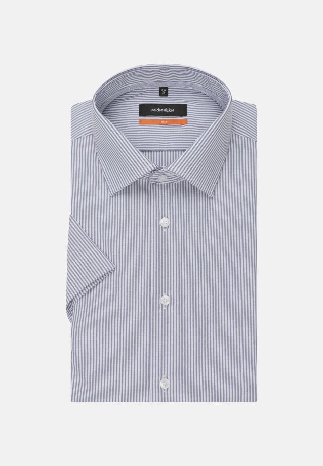 Bügelfreies Popeline Kurzarm Business Hemd in Slim mit Kentkragen in blau |  Seidensticker Onlineshop