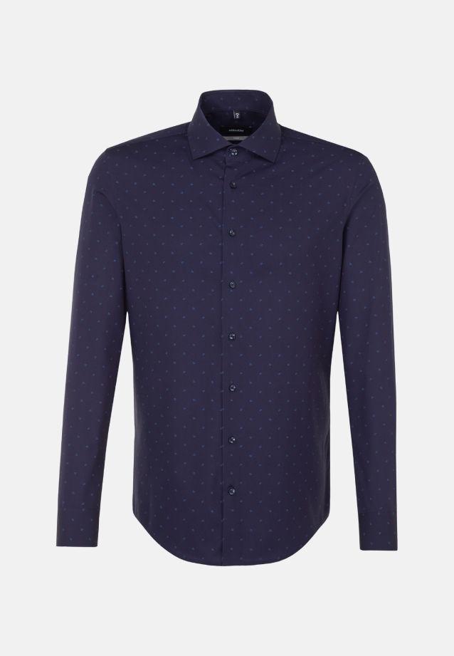 Bügelleichtes Popeline Business Hemd in X-Slim mit Kentkragen in Mittelblau    Seidensticker Onlineshop