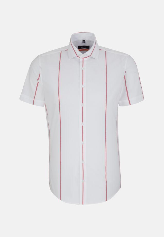 Bügelfreies Popeline Kurzarm Business Hemd in Slim mit Kentkragen in Rot |  Seidensticker Onlineshop