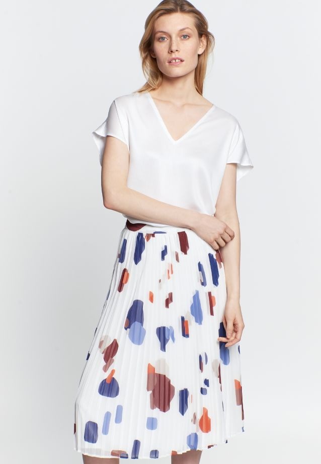 Crepe Midi Skirt made of 100% Polyester in Medium blue |  Seidensticker Onlineshop
